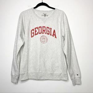 Champion Reverse Weave Georgia Bulldog Sweatshirt